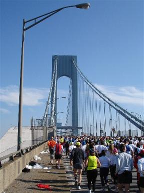 New York City Marathon Verazzano Bridge 2