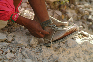 Trail, Support, Cushion, Racer: die Huaraches der Tarahumara.