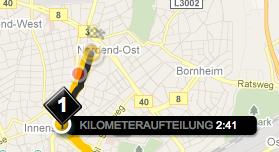 Kilometeraufteilung